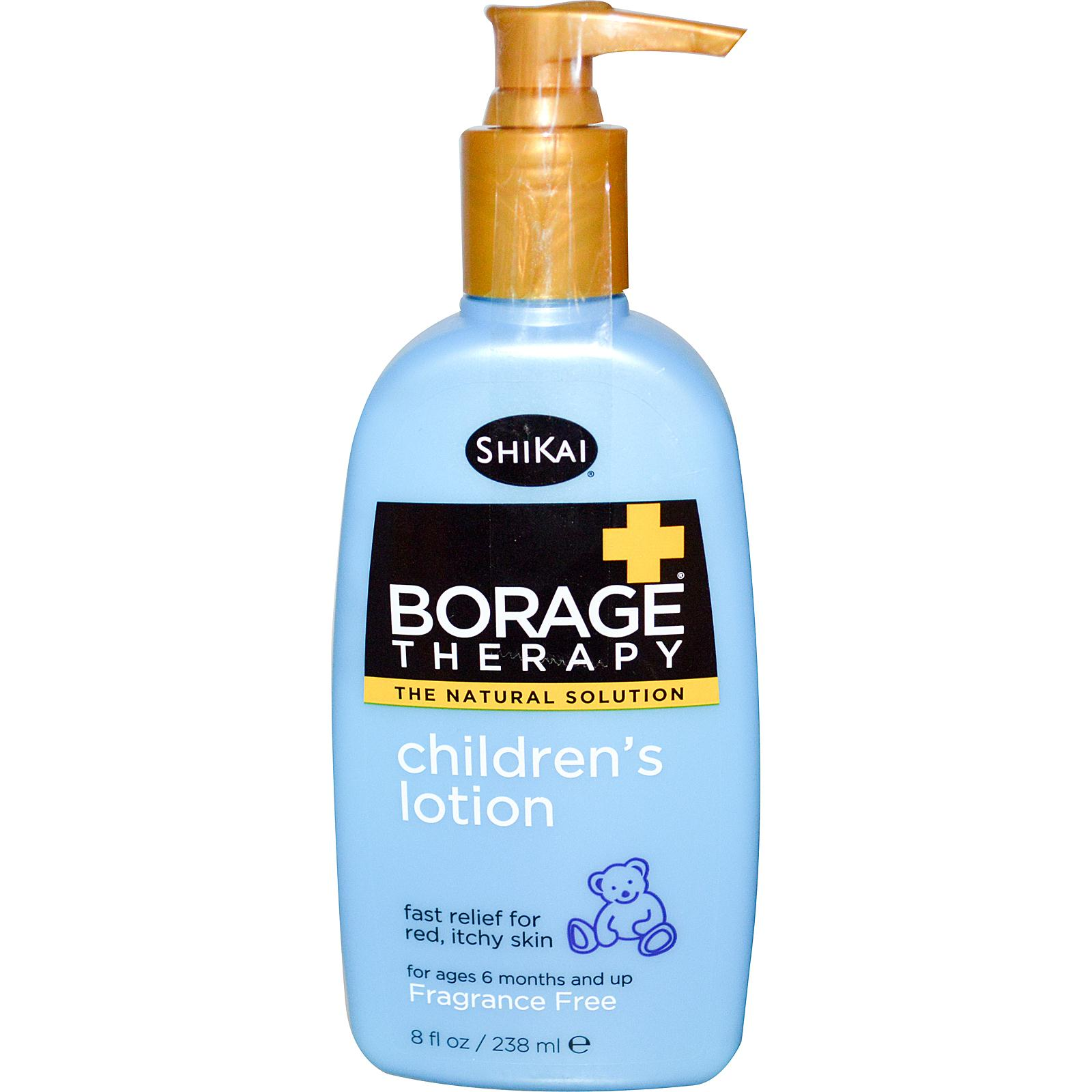 Shikai, Borage Therapy, Children's Lotion, Fragrance Free, 8 fl oz (238 ml).jpg